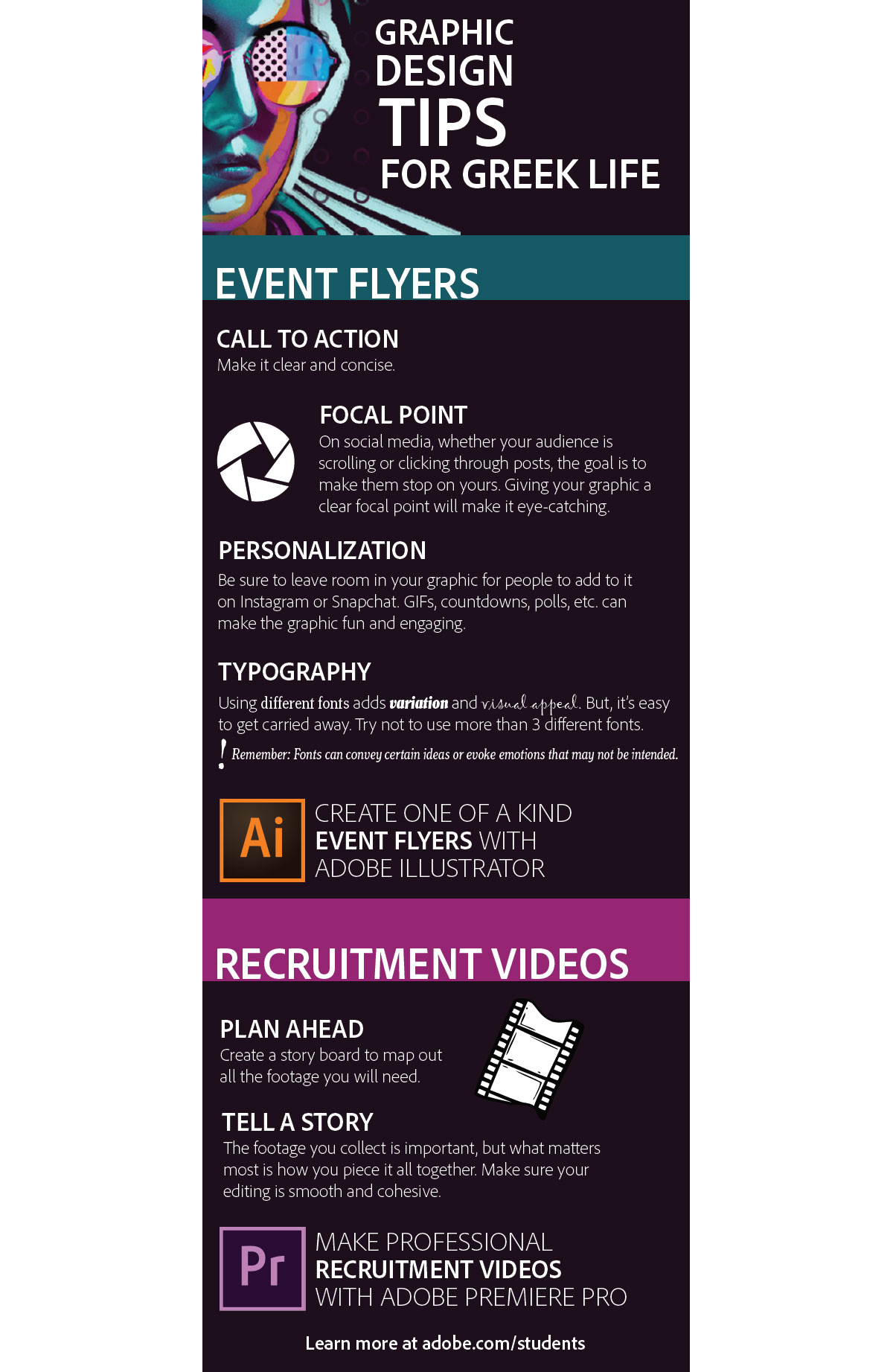 Graphic Design Tips for Sorority Event Flyers and Videos