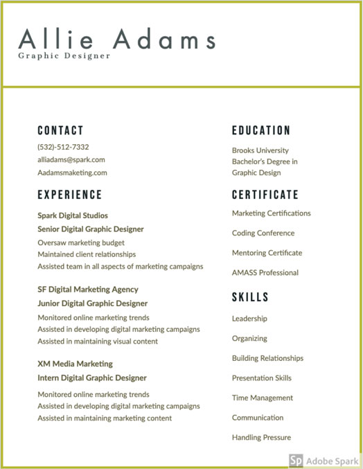 Colored Resume Design