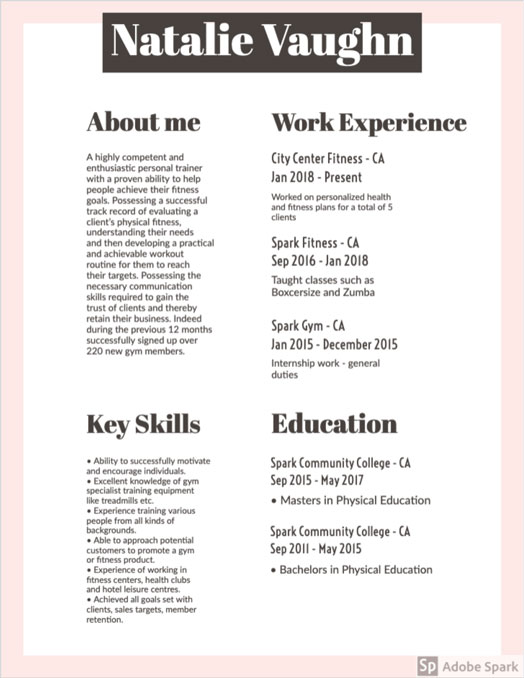 Resume Design Font Ideas