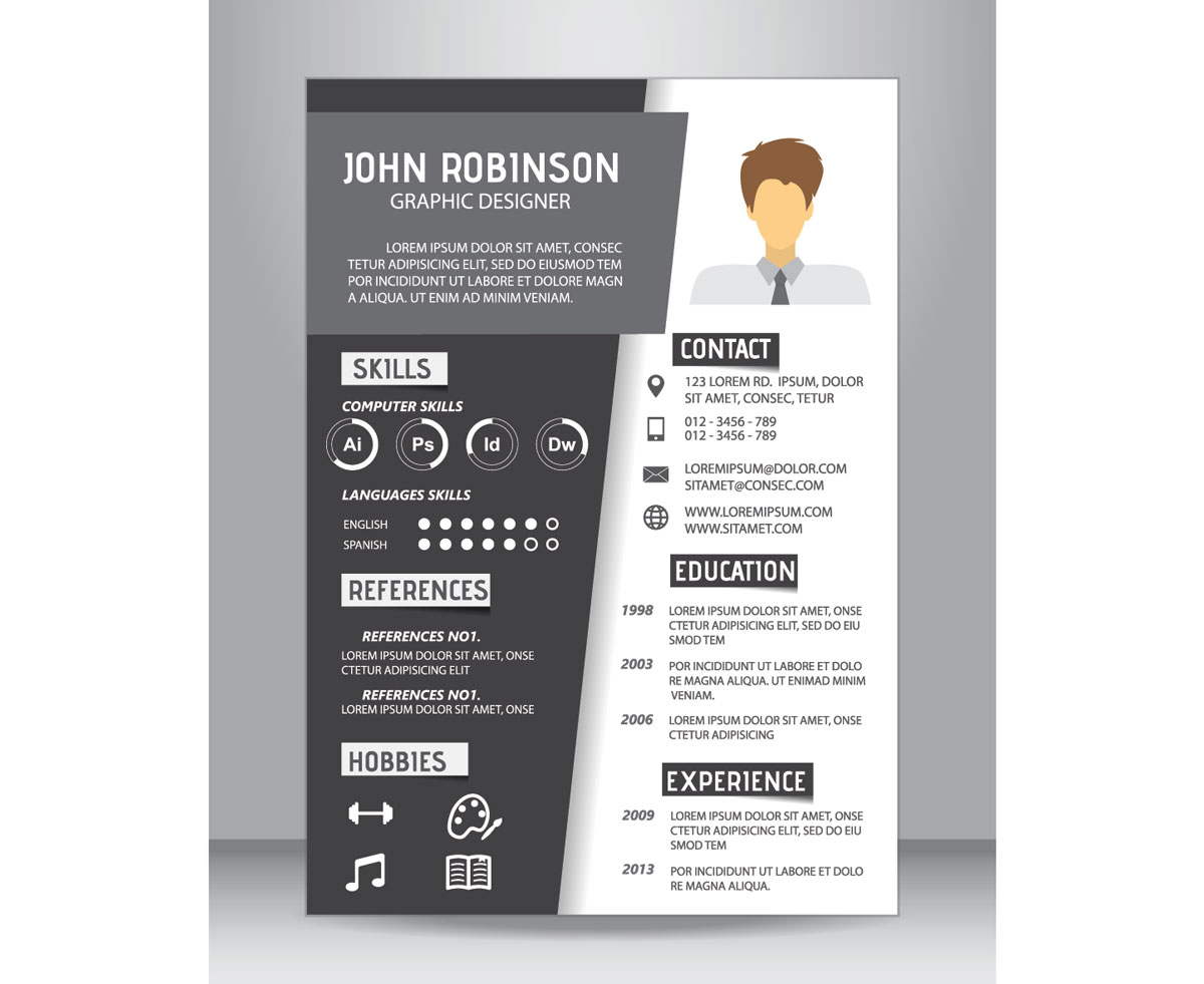 A Minimalist Visual Resume Template