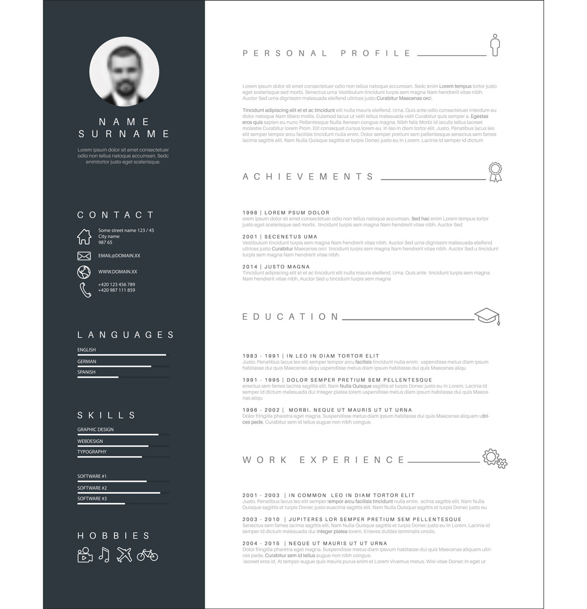 A Visual Resume Template for Overachievers