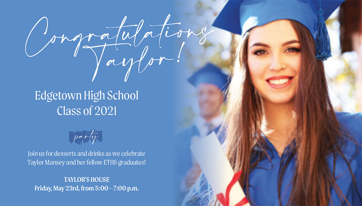 Sample of Make Your Own Graduation Announcement