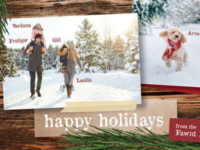 How to create your own unique holiday cards in Adobe InDesign using photos, text, and hand-drawn elements.