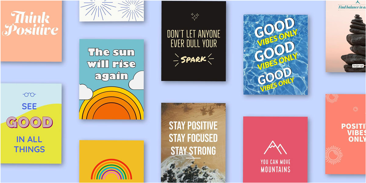 Positive thought templates