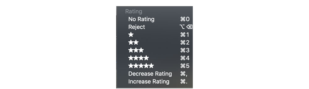 Rating your photos