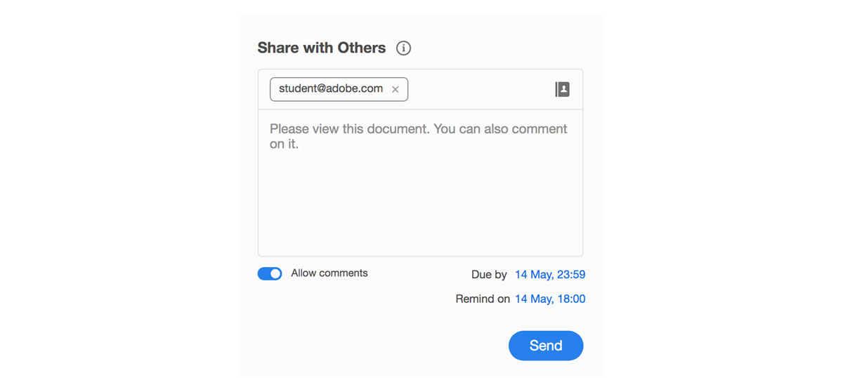 Create a PDF file and share it with others