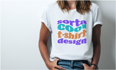 How to use blending modes to place a design on a white t-shirt in Adobe Photoshop.